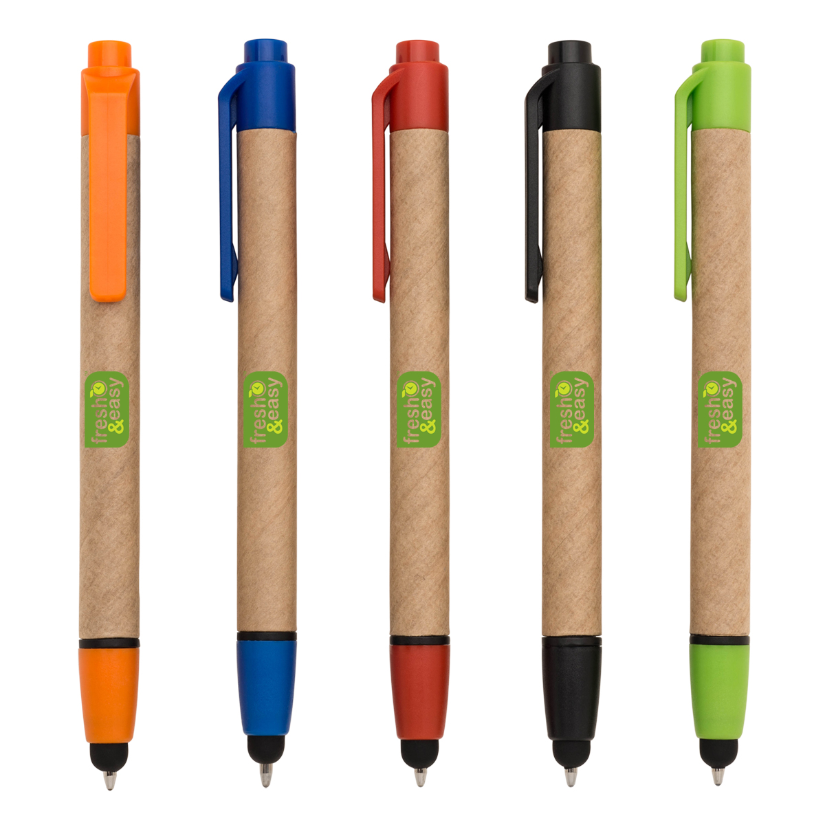 ECO FRIENDLY RECYCLED PAPER BALLPOINT PEN W/ STYLUS