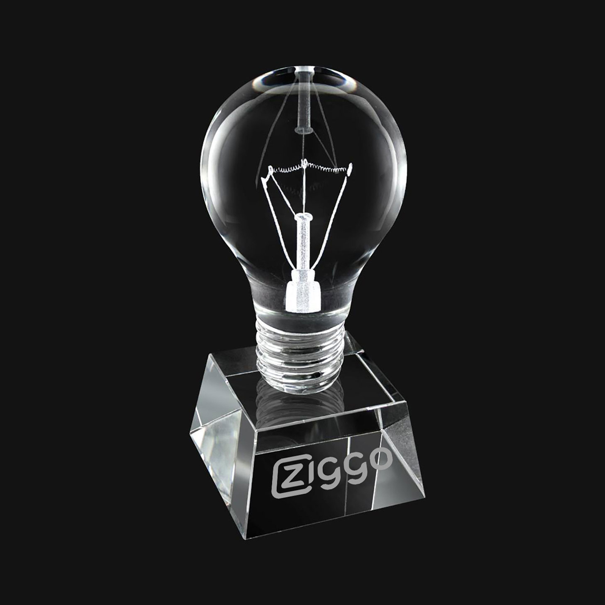 "CRYSTAL LIGHT BULB 6"" AWARD"