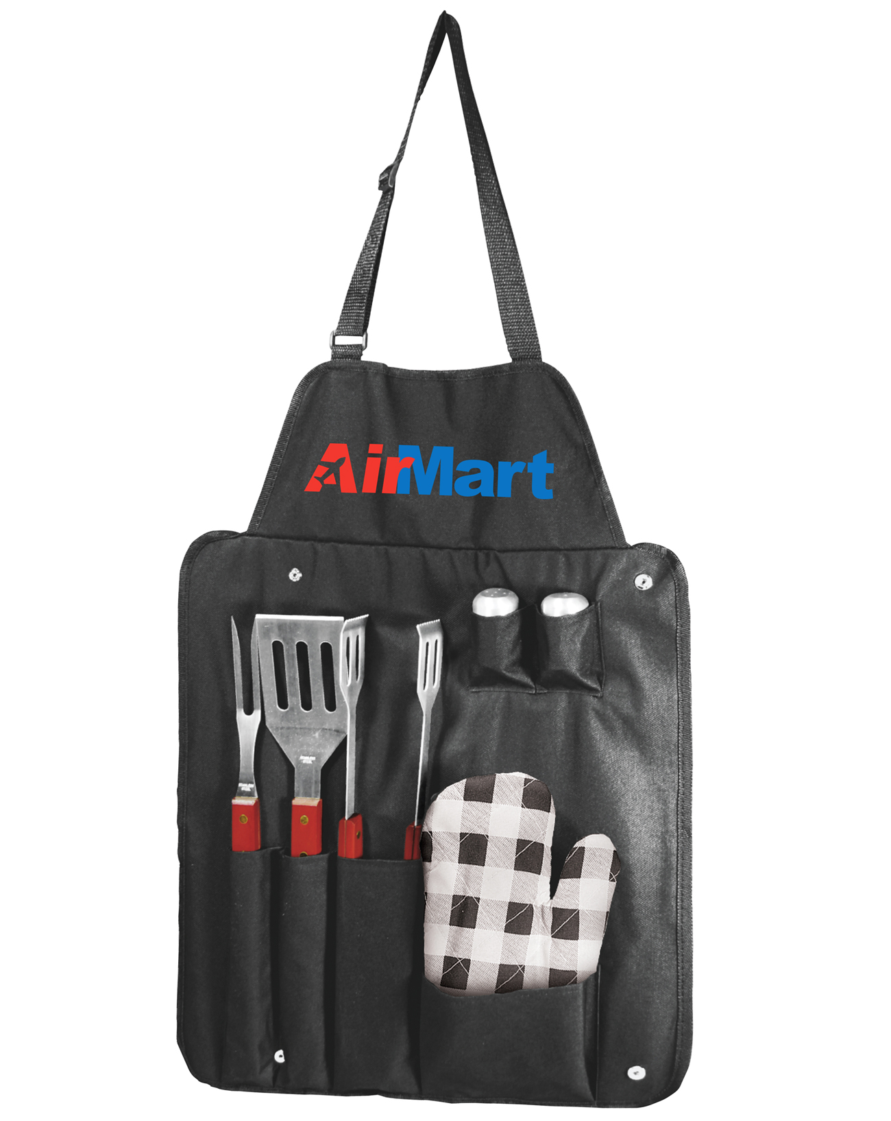 6 PIECE BBQ UTENSIL APRON SET