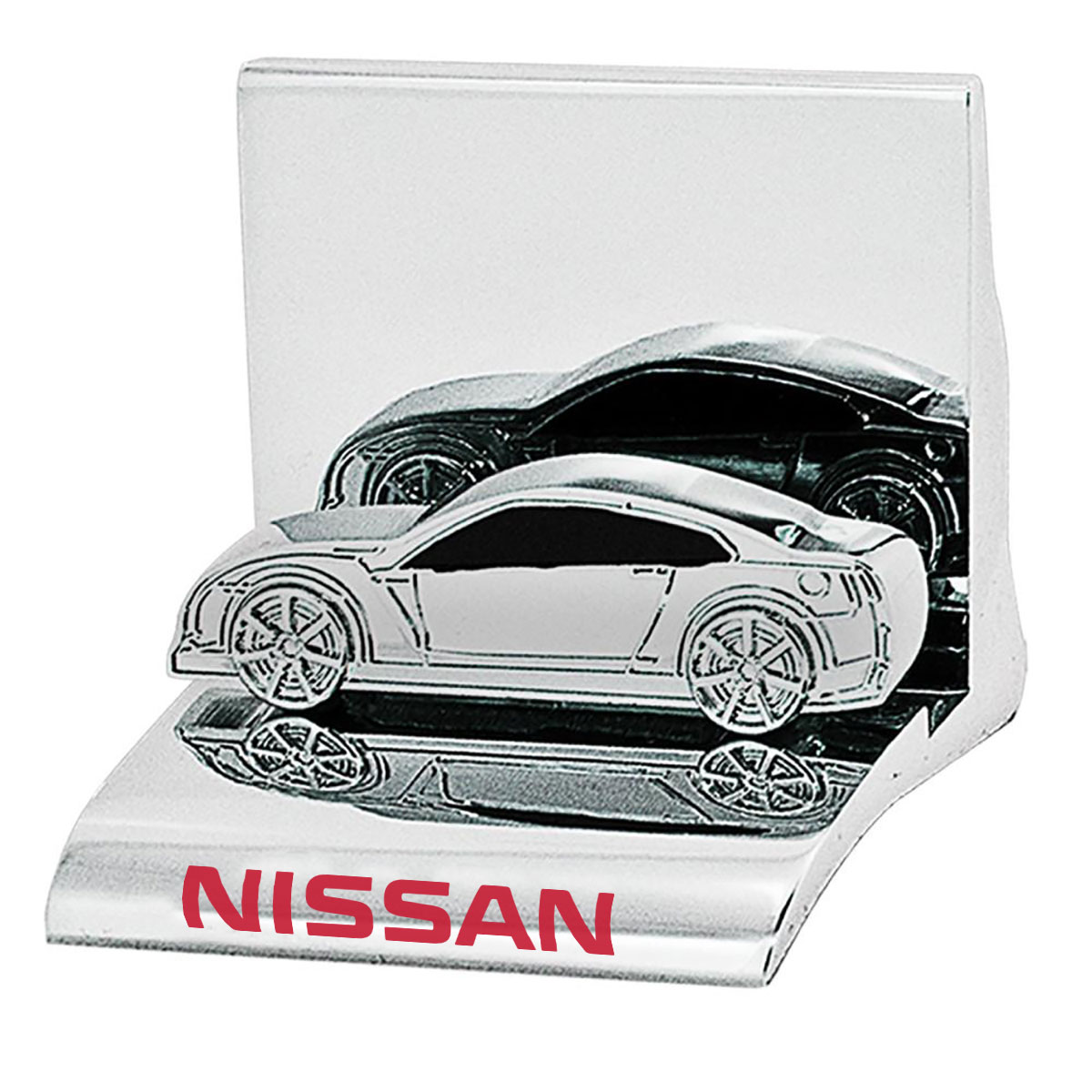CAR CHROME BUSINESS CARD HOLDER