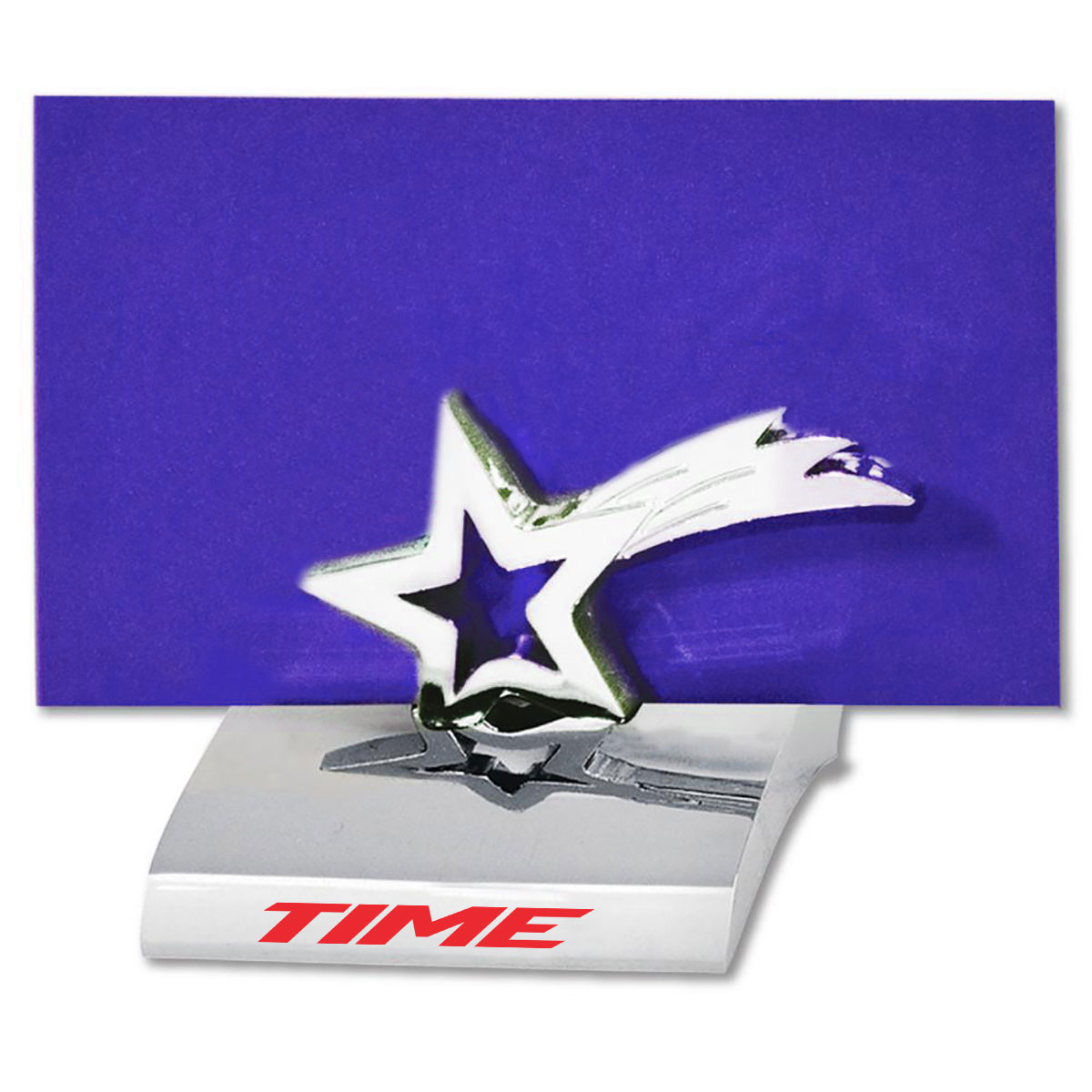 SHOOTING STAR CHROME BUSINESS CARD HOLDER
