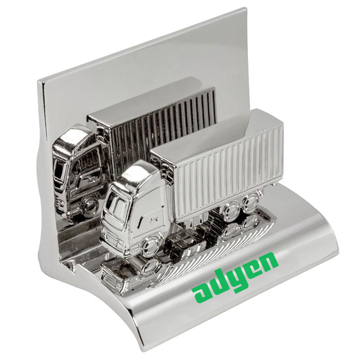 TRUCK CHROME BUSINESS CARD HOLDER