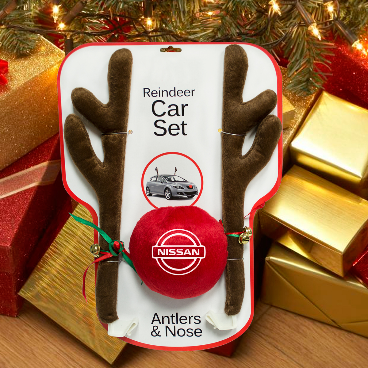 HOLIDAY REINDEER CAR SET