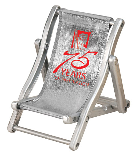 METALLIC BEACH CHAIR