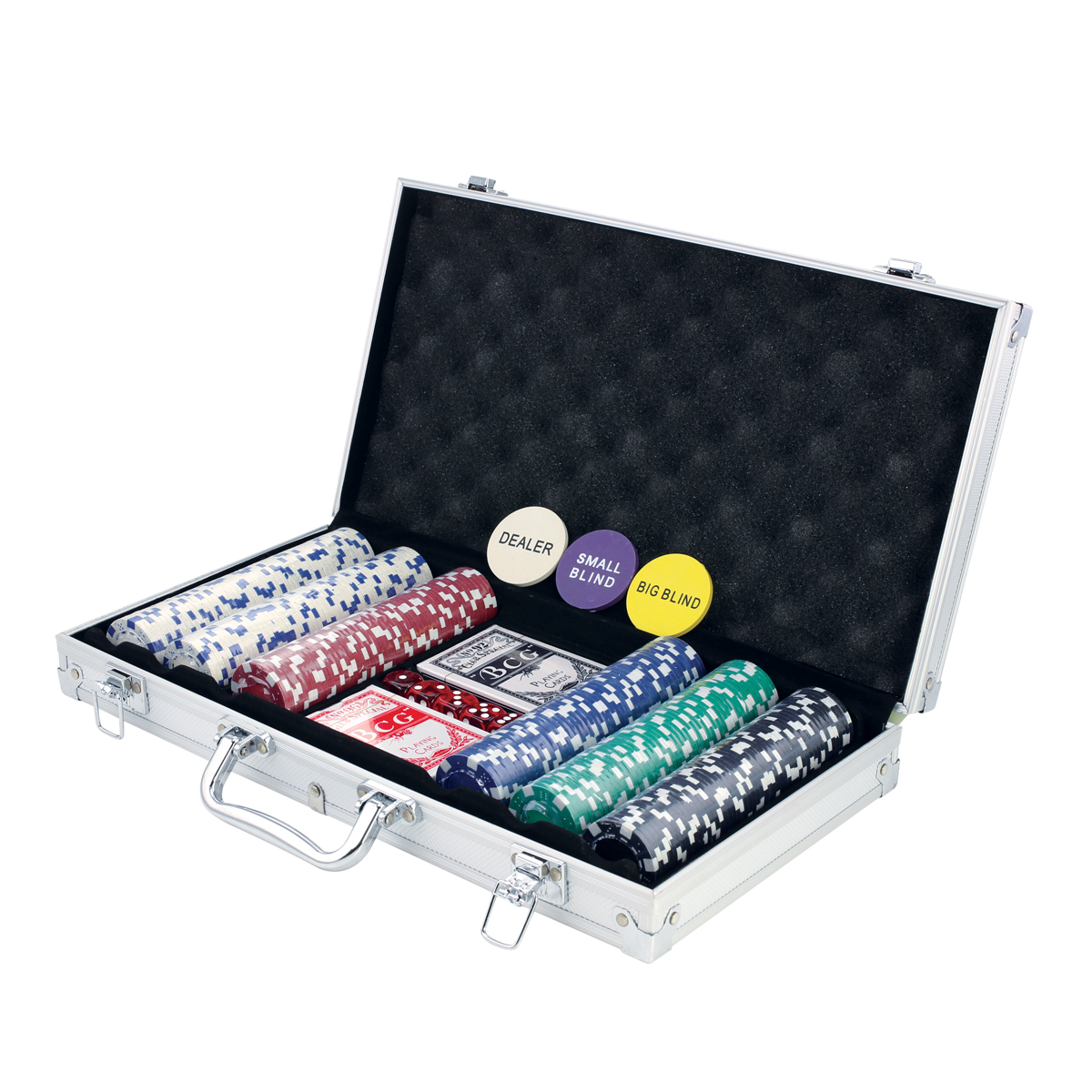 PETRA 300 PIECE ALUMINUM POKER SET
