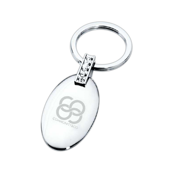 OVAL JEWEL KEYRING