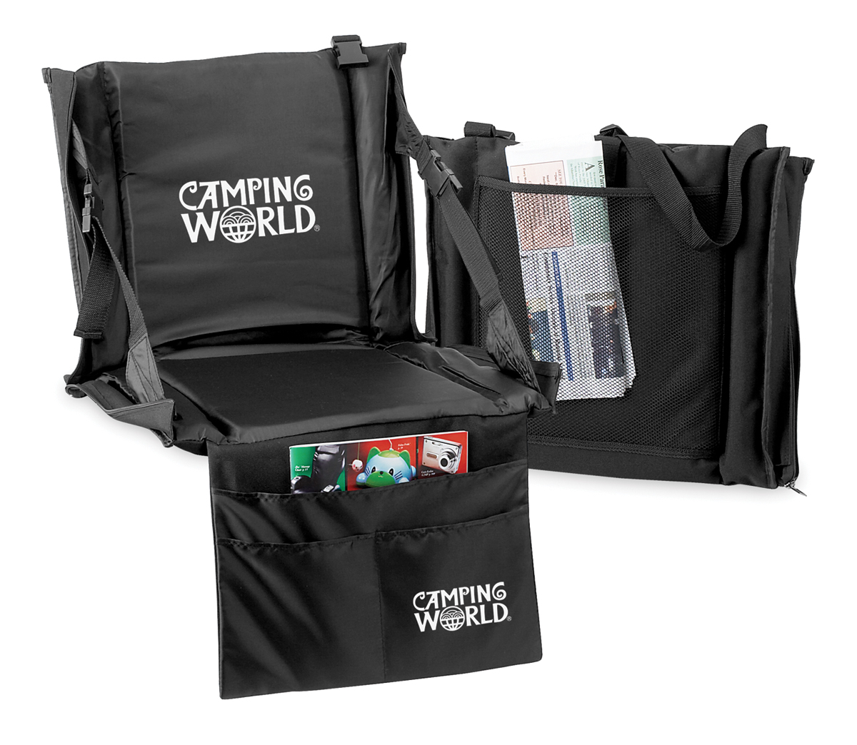 DELUXE STADIUM CUSHION W/ ORGANIZER