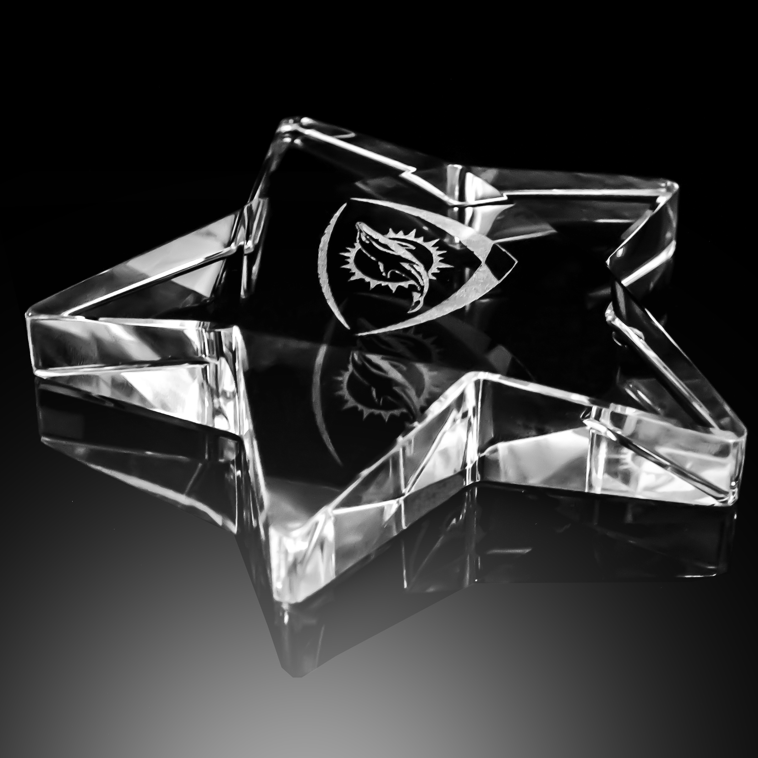 GLASS CRYSTAL STAR PAPERWEIGHT