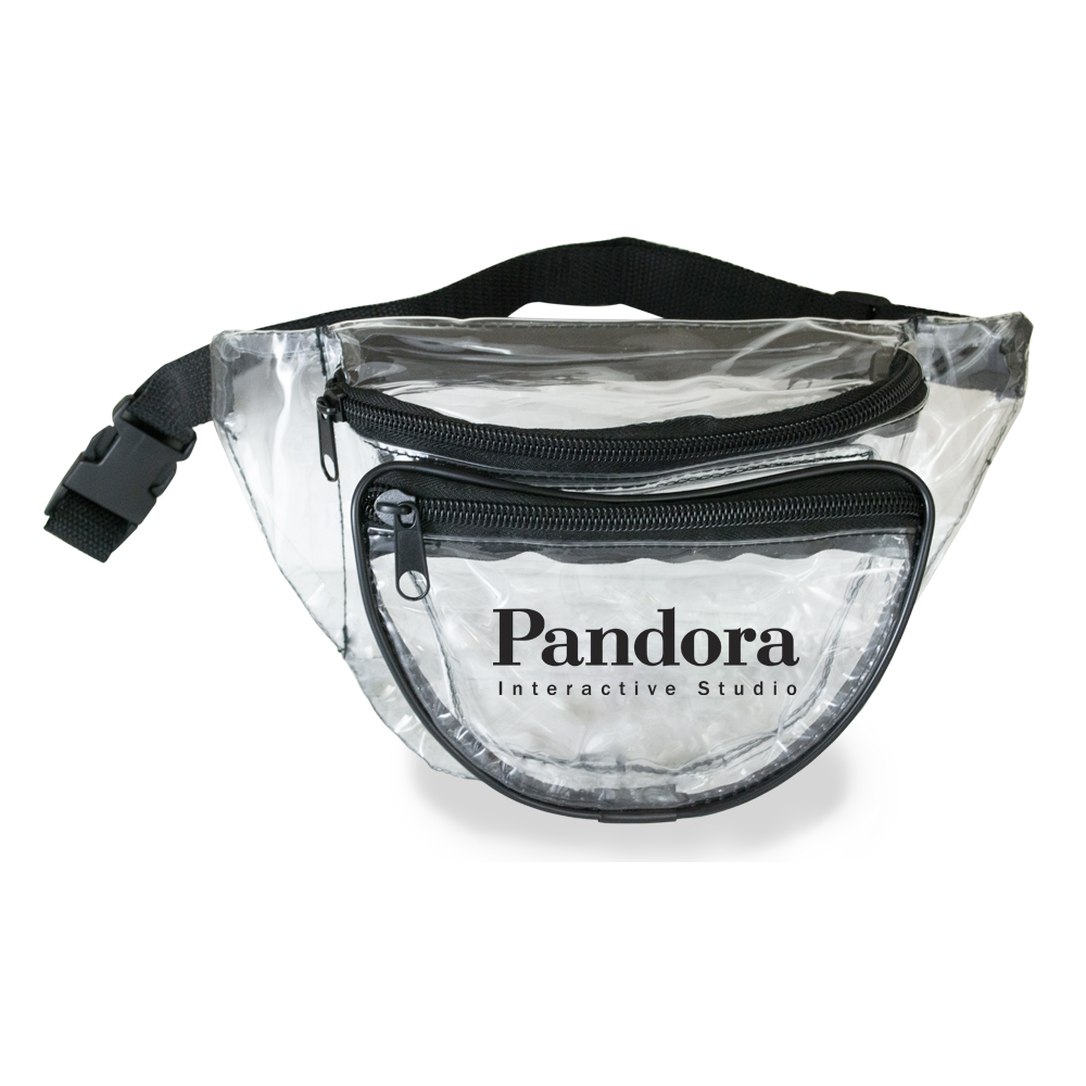 TRANSPARENT CLEAR FANNY PACK