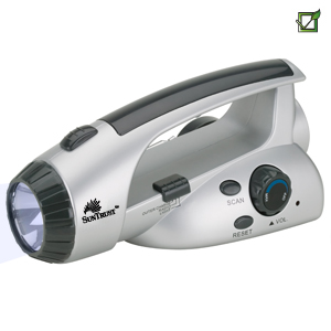 ECO-FRIENDLY SURVIVAL DYNAMO FLASHLIGHT & FM RADIO